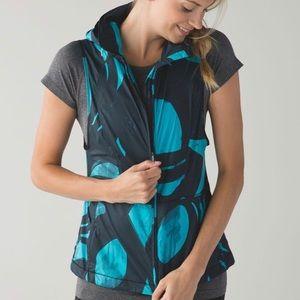 Lululemon Pack-It Vest Back Spin Blue & Black